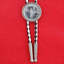 "US 1999 Pennsylvania State Quarter BU Coin SP Slide 36"" Cord Bolo Tie NEW"