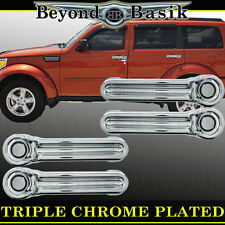 DODGE NITRO 2007-2012 Chrome Door Handle COVERS 4 door Overlays trims caps