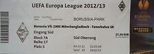 TICKET UEFA EL 2012/13 Mönchengladbach - Fenerbahce SK
