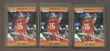 1990 Pro Set Joe Montana 1989 NFL Player of the Year #2 49ers (LOT of 3)