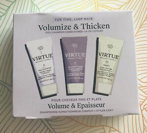 Virtue Volumise & Thicken Full Shampoo Conditioner 6-In-1 Styler Set Brand New