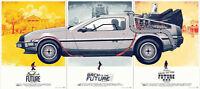 Back To The Future DeLorean DMC-12 Bumper Sticker or Fridge Magnet