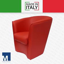 POLTRONA A POZZETTO in ecopelle sedia poltroncina ufficio divano MADE IN ITALY
