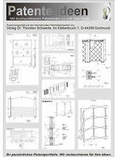 Sichtschutz, Stellwand. Patente Ideen auf 1100 Seiten.