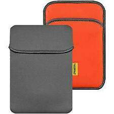 AMZER 8inch Reversible Neoprene Vertical Sleeve w/Pocket Slate Grey/Burnt Orange