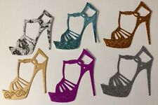 STILETTO HEEL Die-Cuts(6pc)Stripper Shoe•Dancing•Glitter•Metallic•Prismatic•