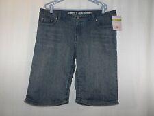 DICKIES Denim Jean Shorts Slim Fit Size 18 NEW Stretch 5-Pockets Midrise Women's