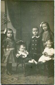 Foto-AK DANZIG /GDANSK 5 Kinder von O. W.Sander, Export, in Foto-Atelier 10er