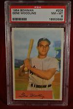 1954 Bowman - Gene Woodling - #209 - PSA 8 - NM-MT