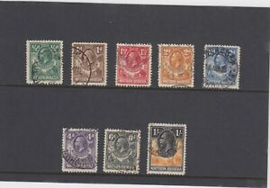 NORTHERN RHODESIA 1925 SET TO 1/= SG 1/10 GOOD/F.USED,EXCLUDING 8d. &10d VALUES