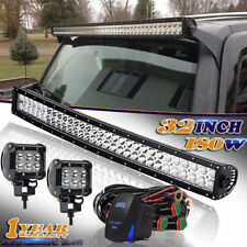"DOT DUAL-Row 32""inch 180W CURVED LED Light Bar Spot+Flood FOR  BOAT 12V/24V"