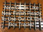 4- Fast Ship! Cleaned New Bright Holiday Express # 384-387 Tracks Straight