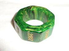 VTG BACKGAMMON BAKELITE GREEN HIGH 6561 FINLAND DOUBLING TRIPLER RING CUBE DICE!