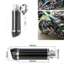 Universal 51MM Carbon Fiber Slip-On Exhaust Muffler Pipe Escape w/DB Killer -NEW