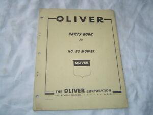 Oliver 82 mower parts book catalog manual with old oliver dealer sign logo