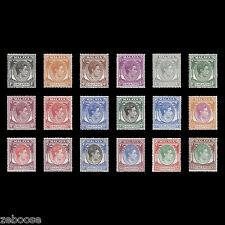 Singapore 1949-52 (MLH) KGVI definitive series perf 17½ x 18. SG16-30; SC1a-20a