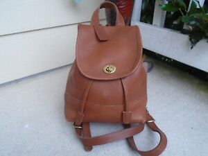 Vintage COACH Vintage Daypack Backpack B6C - 9960 tan leather made in USA