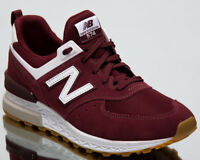 New Balance 574 Sport Men Sneakers Burgundy White 2018 Lifestyle Shoes MS574-FCW