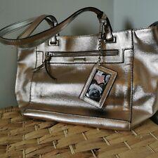 Nine West Metallic Rose Gold Handbag Floral Print