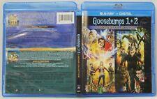 Goosebumps 1 & 2 (Blu-Ray,2-Disc Set) FREE Ship R.L. Stine Jack Black No Digital