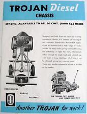 TROJAN Diesel Chassis Original Commercial Sales Sheet Sep 1956 #TL 284/R2 H 9-56
