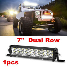 1x 7 Inch LED Work Light Bar Spot Beam Offroad Fog Driving 4WD 4x4 Waterproof