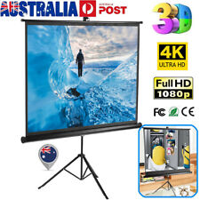 Excelvan 100 Inch 4:3 Pull Up Projector Screen HD Projection Stable Stand Tripod