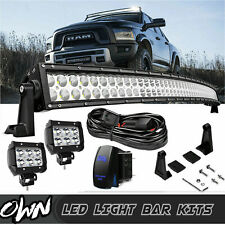 "Fit Dodge Ram 1500 2500 3500 Upper Roof 54""+4"" Curved Combo LED Work Light Bar"