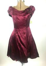 Vintage 80s 90s Prom Dress Flower Lace Fit & Flare Fredericks Of Hollywood