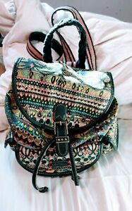The Sak by Sakroots. Backpack and/or Purse Tribal/Geometric/FairIsle pattern