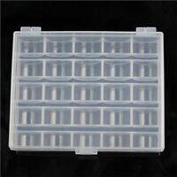 25 Spools Empty Bobbins Sewing Machine Bobbin Case Organizer Storage Clear Box#