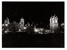 PHOTO ANCIENNE Vers 1960 Pérou Peru Amérique du Sud NUIT Jeu de lumière Église