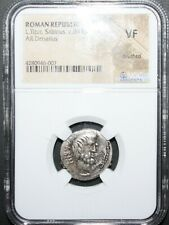 Ancient Roman Coin Republic L.Titur Sabinus_ c89 Bc Ar Denarius Ngc Vf Look #
