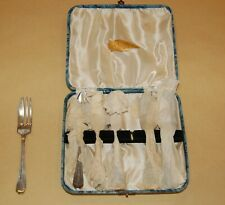 Vintage Silver Plated Cased EPNS Set of 6 Pastry or Cake Forks in Original Box
