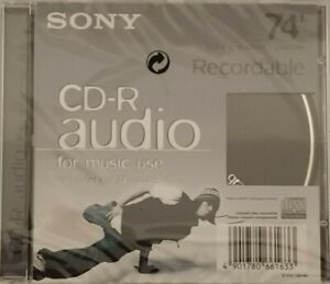 Sony CD-R74  CRM74CRB - Graphite - Audio Music CDR Blank Recordable Disc - NEW