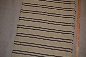 "Cotton seersucker fabric 47"" x 4.6 yards. Brown & tan striped"