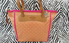 FOSSIL Med-Lrg Handbag Coated Orange KEYPER Shoppers Tote Bag BNWT RP£79