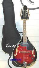 Mandolino Folk Tenson A-1E Black Cherry Modello elettroacustico + borsa inclusa