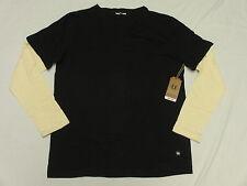 $54 NWT NEW Mens Unyforme T-Shirt Accor LS Tee Black Beige Urban Size XL N131