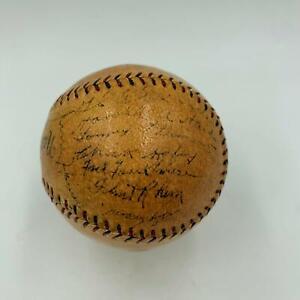 1928 St. Louis Cardinals NL Champs Team Signed Baseball Grover Alexander JSA COA