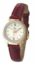 Limit Women's Quartz Watch with White Dial Analogue Display and Red PU Strap