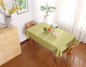 New Modern Plain Tablecloth Table Cloth Cotton Linen Cover Home Decor 13 Colors