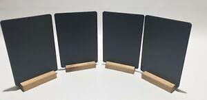 CHALKBOARD BLACKBOARD TABLE TOP  -  COUNTER    A5 x 4 + FREE LIQUID CHALK PEN.
