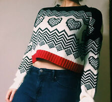Derek Heart Cropped Sweater Forever 21 Urban Outfitters