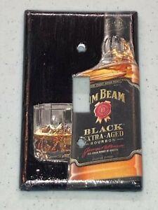 JIM BEAM KENTUCKY BLACK EXTRA AGED BOURBON WHISKEY LIGHT SWITCH COVER PLATE