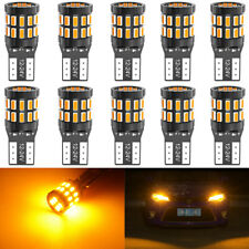 5PCS White 5730 194 168 W5W T10 LED Bulbs Compatible with Hummer H2 SUV SUT 2003 2004 2005 2006 2007 2008 2009 Partsam 5PCS 264160AM Amber Lens Cab Marker Top Roof Running Lights