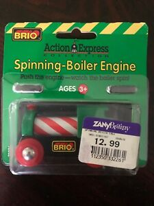 1997 thomas and friends Spinning Boiler CANDY CANE Train Engine Rare New In Box!