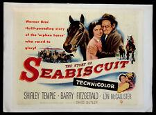 STORY OF SEABISCUIT SHIRLEY TEMPLE HORSE RACING 1949 HALF-SHEET