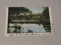 Vintage Postcard- Mill Pond Durham - Water Scene Un-Posted 1900s Era #582