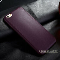 Luxury Ultra Thin Leather TPU Soft Back Case Cover for Apple iPhone 5 6s 7 Plus